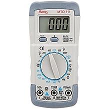 KKmoon MTQ 111 Mini 31/2 Multímetro Digital DMM Voltímetro Amperímetro Ohmetro HFE Tester con Fecha de Retención LCD Backlight Prueba de Diodo