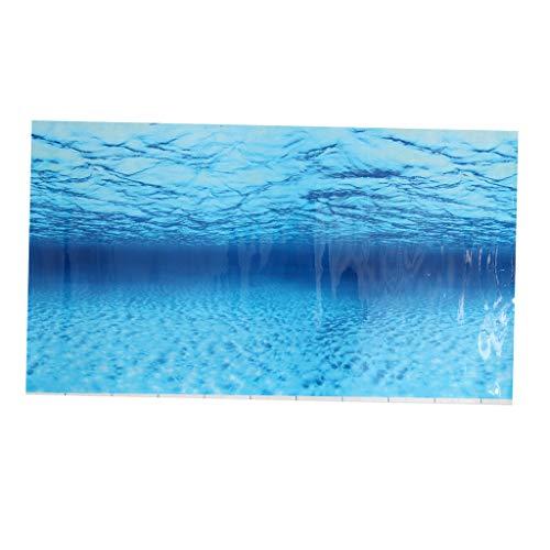 B Blesiya Aquarium Fisch Tank Hintergrund Aufkleber - 100x50cm - Typ 3