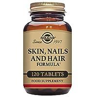 Solgar Peau Ongles Cheveux 120 Comprimés est un complément alimentaire.Convient aux végétariens.Sans sucre, sel.Ce produit est sans levure, blé, soja, gluten, ou dérivés laitiers et sans arômes ou colorants artificiels.