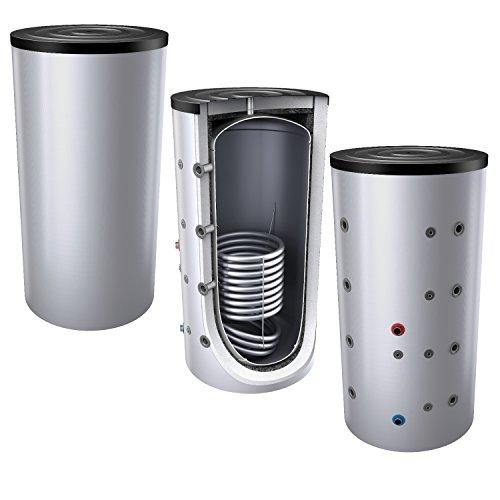 1000L Pufferspeicher / Heizungsspeicher - Warmwasserspeicher für Heizungswasser, mit 1 Wärmetauscher (auch als Solarspeicher geeignet), inkl. Isolierung. Für Trinkwasser siehe emaillierte EWS8B Reihe.