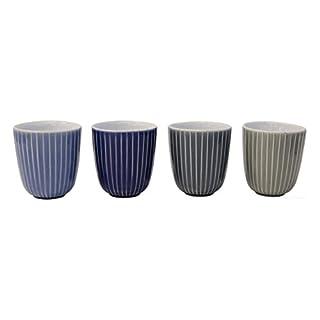 ASA 90510071 4er Set Becher in vier Farben, Keramik, mehrfarbig, 7.5 x 7.5 x 8.2 cm, 4 Einheiten