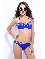 AMYMGLL Maillot de bain dames d'été européen et costume de bikini américain costume sexy maillot de bain en deux pièces multicolore