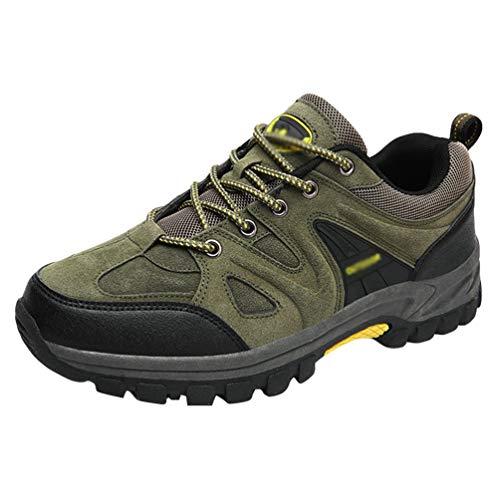 Yuanu Herren Outdoor-Wanderschuhe Sport Niedrige Taille rutschfeste Wanderschuhe Leichte Atmungsaktive Wanderschuhe Armee Grün 40