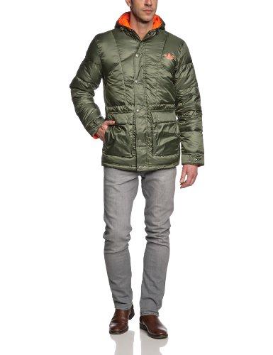adidas Ripstock Doudoune courte pour homme Gris - Kaki F13/Orange
