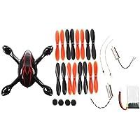 SODIAL(R) Para Hubsan X4 H107C Pieza de repuesto cuadricoptero RC Paquete de choque Rojo y Negro H107C-A41