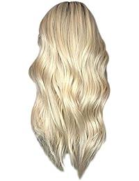 Centro de peluca de pelo largo y rizado de moda para mujer Cabello largo y rizado