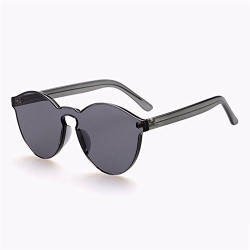 ZYPMM 2017 neue koreanische im Freiendamen Sonnenbrille männliche Plastiksonnenbrille Europa und die Vereinigten Staaten Tendenz Retro Gläser polarisiertes Licht ( Color : Gray )