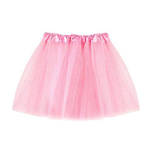 erthome Baby Mädchen Rock, Kinder Mädchen Tanz Fluffy Tutu Röcke Pettiskirt Ballett Kostüm kleidung 3-8 Jahre (Rosa)