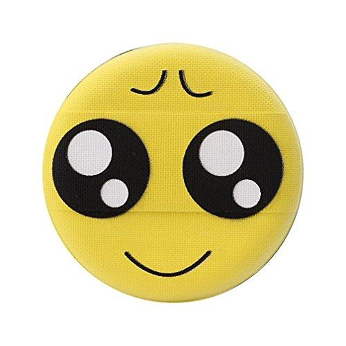 Emoji Houppettes à poudre, Sansee Femmes Fashion Transparent Silicone Smiley Éponge Make Up Puff (J)