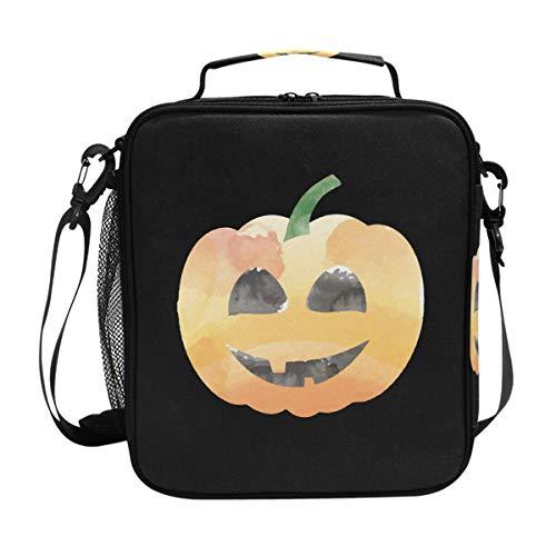 FAJRO Kühltasche für Mittagessen, Halloween, Kürbis-Lächeln