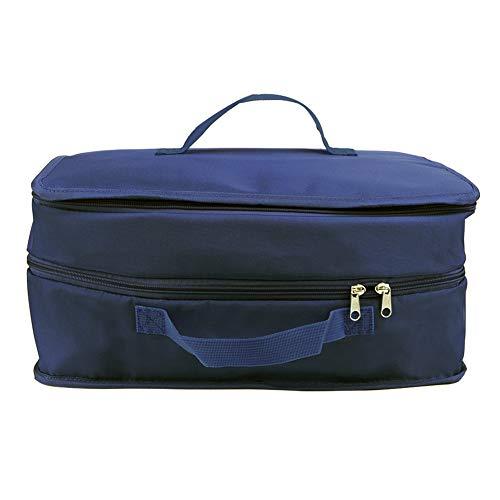 Organiseur de bagage à suspendre, étagères 3 couches de rangement, placard, valise, trousse de toilette de voyage, trousse de toilette pour voyage, voyage d'affaires, bleu