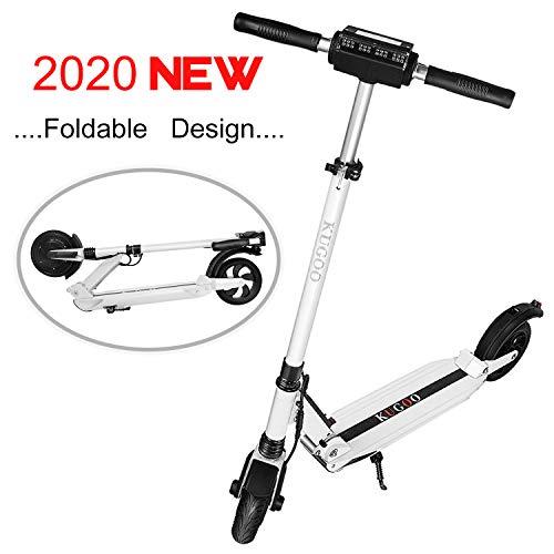 MARKBOARD E-Scooter Klappbar Elektroscooter Erwachsene Bis 30 km/h E Roller Mit Vorderen und Hinteren Rückleuchten   7.5Ah Akku   350 Watt Motor City Roller (weiß) (Motor Roller Erwachsene Für)