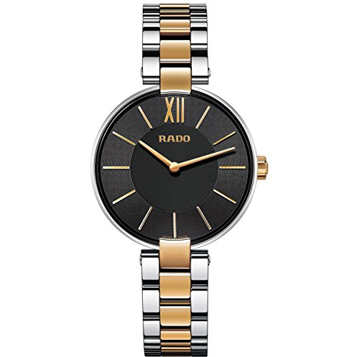 RADO MEN'S COUPOLE 33MM TWO TONE STEEL BRACELET & CASE QUARTZ WATCH R22850163