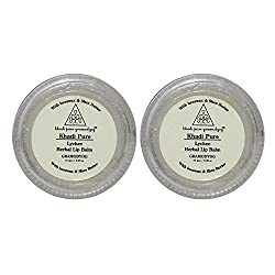 Khadi Pure Herbal Lychee Lip Balm - 10g (Set of 2)