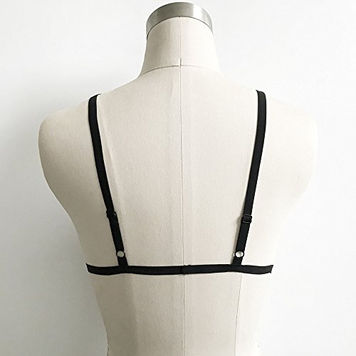 Add Health Damen Pentagramm Harness Strappy Geschirr Pentagramm Knechtschaft BH 024 Black