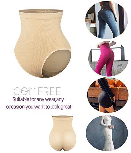 COMFREE Bauchweg Unterhose Shaping Unterwäsche Miederslip Figurformende Miederhose Butt Lifter Beige S M - 6
