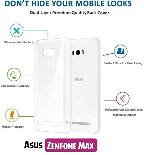 Chevron Crystal Clear Case Soft Flexible TPU Back Cover for Asus Zenfone Max (Transparent)  available at amazon for Rs.109