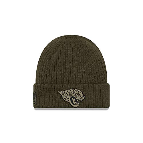 New Era Jacksonville Jaguars Beanie On Field 2018 Salute to Service Knit Green - One-Size