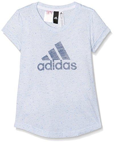 Adidas youth id maglietta, bambini, youth id, white/aero blue/noble indigo, 152