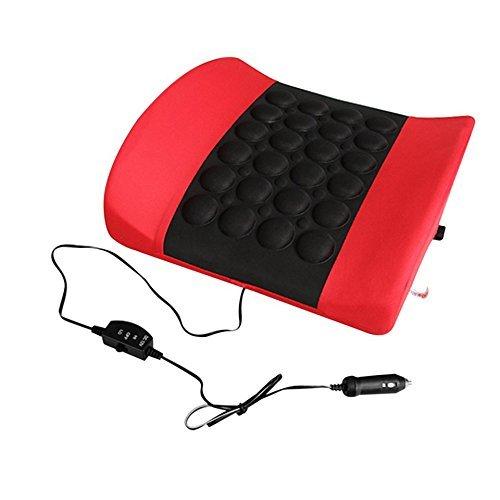 ZZY Elektrisches Weiches Schwamm-Taillen-Stützkissen-Knochen stimulieren die Zirkulation des Blut-Kissen-Auto-Styling-Massage-Autositzes (Farbe : Rot)