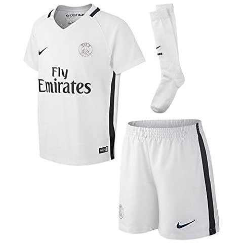Nike Psg Ensemble de Football Mixte Enfant, Blanc, FR :