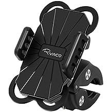 Ryaco Supporto Bici Smartphone Supporto Manubrio Universale Bici Moto 360 Gradi di Rotazione Porta Cellulare Auto per iPhone, Samsung Galaxy, LG, HTC, Huawei, Motorola e GPS Dispositivi etc, Nero