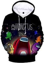 POOMALL Hooded Sweatshirt Sports Coat T-shirt Men's And Women's, Games Among Us 3D Digital Printing Ca