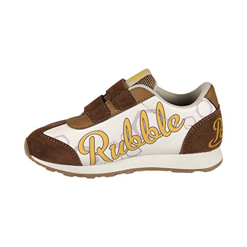 Paw Patrol - Scarpe Sneakers con Chiusura a Strappo - Autunno Inverno - Bambino - Novità Prodotto Originale 2300002XXX Marrone Rubble