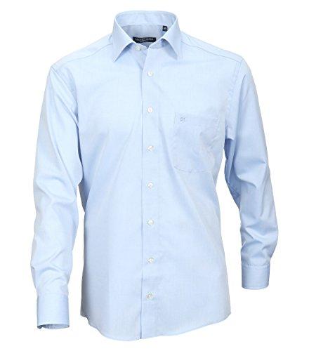 Casa Moda - Comfort Fit - Bügelfreies Herren Business Hemd mit Extra langem Arm (69cm) in verschiedenen Farben (006069) Blau (10)