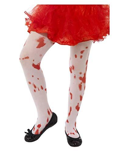 Horror-Shop Kinder Strumpfhose Blutspritzer für Halloween Verkleidungen