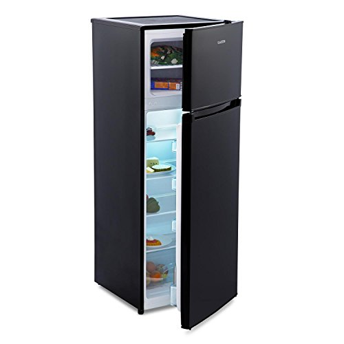 Klarstein Height Cool Black • nevera con congelador • refrigerador de 115...