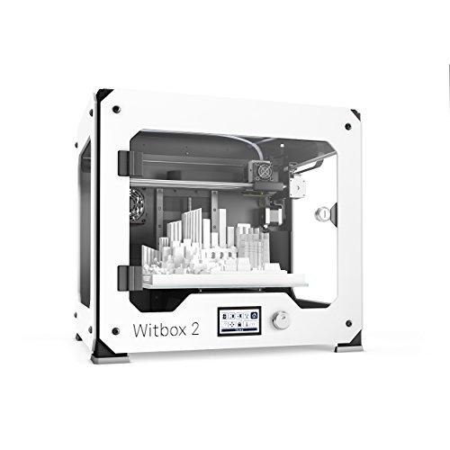 BQ Witbox 2 - Impresora 3D (resolución 20 micras, velocidad 200 mm/s, USB tipo B, tarjeta SD 4 GB, espátula)