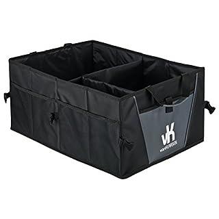 Premium Kofferraumtasche mit Klett - Faltbarer Kofferraum Organizer I Auto Faltbox I Kofferraumbox
