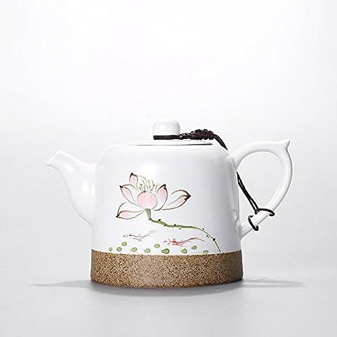 peint à la main Théière Pot en céramique Petite théière en porcelaine Service à thé