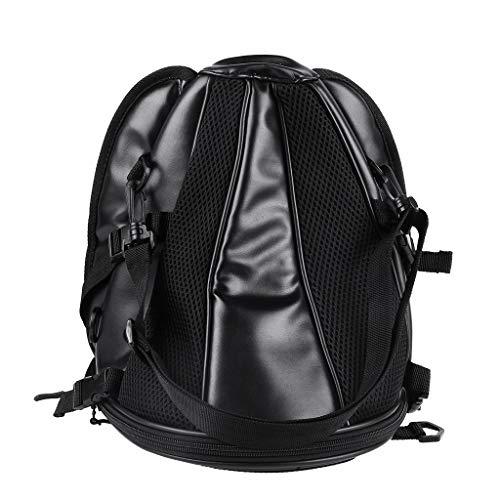 Motorrad Rücksitz, Satteltasche Rucksack Sitztasche Taschen Packtasche Motor Side Gepäck Rückentasche Schulter Wasserdicht Reflektierend Aufbewahrungstaschen Rahmentasche Seitengepäck (schwarz) - Gepäck Schulter Tasche