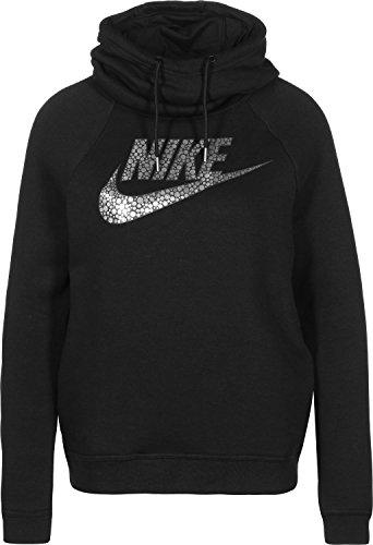 Nike W Nsw Rly Fnl Gx1 - Sweatshirt Damen, Schwarz (Negro / Anthracite / Metallic Silver), Preisvergleich