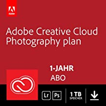 Adobe Creative Cloud Foto-Abo mit 1TB: Photoshop CC und Lightroom CC | 1 Jahreslizenz | PC/Mac Online Code & Download