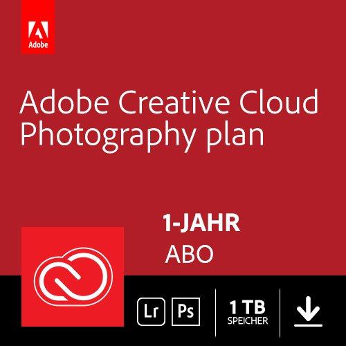 Adobe Creative Cloud Foto-Abo mit 1TB: Photoshop und Lightroom | 1 Jahreslizenz | PC/Mac Online Code & Download - Suite 7 Creative
