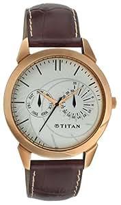 Titan Classique Analog White Dial Men's Watch - NE1509WL01