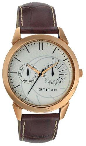 Titan Classique Analog White Dial Men's Watch – NE1509WL01