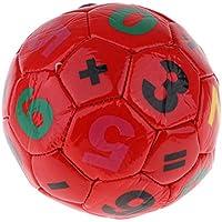 F Fityle Juguete de Balón de Fútbol para Niños 3-6 años de Cuero Artificial Pequeño y Duradero - Rojo, Diámetro 15 cm
