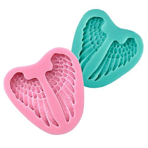 Ndier Moldes de Silicona para Tartas en Forma de ala, diseño de alas en 3D (Color al Azar)