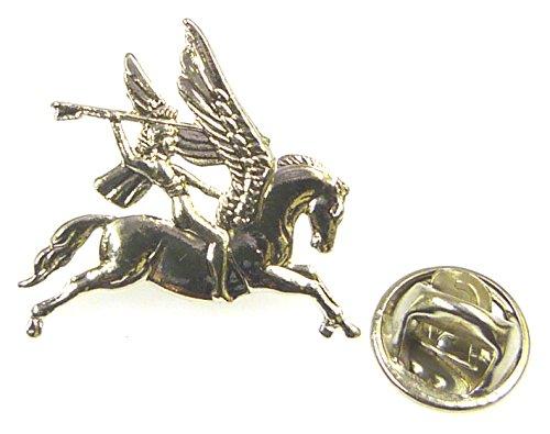 Airborne Division Pegasus Lapel Pin Badge (Metal / Enamel) Nickel Plated