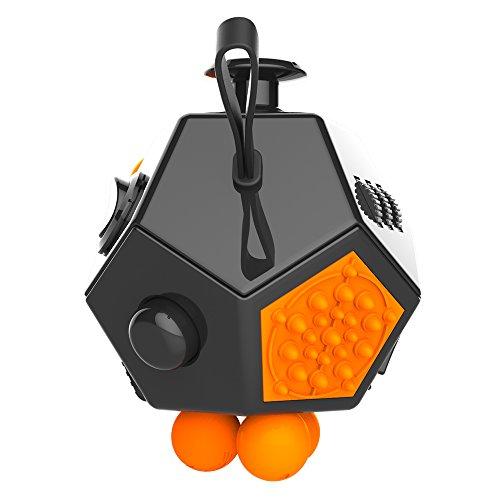 MMRM Enfants Adultes Décompression Cube Magique 12 Faces Magie Fidget Cube Jouet Nouveauté - No