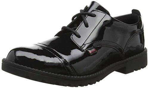Kickers Mädchen Lachly Lace Youth Derbys Schwarz (Black) 37 EU Youth Black Patent Schuhe