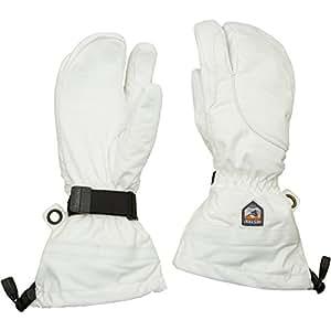 Hestra Gants en cuir Armée Heli Gants de ski pour femme 3doigts 6Ivoire/blanc (Petit), ivoire/blanc
