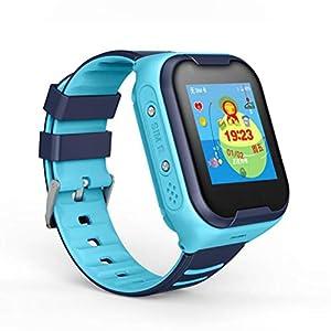 A36 Kids GPS Smart Watch 4G Uhr für Kinder Uhr Wmart Child Clock mit WiFi Standort SOS Call Tracker Gerät IP67,Blue