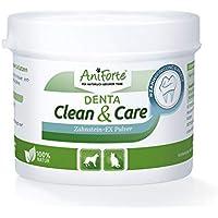 AniForte Denta Clean and Care Zahnstein-EX Pulver 80g für Hunde und Katzen, Zahnpflege für weiße Zähne, Frischer Atem, Zahnbelag und Plaque einfach vorbeugen, Auch für die Welpen Mundhygiene