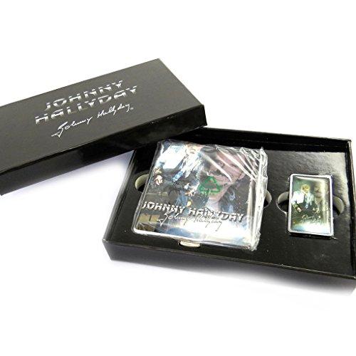 Johnny Halliday [M9758] - Coffret cadeau fumeur 'Johnny Hallyday ' (étui cigarettes + briquet)