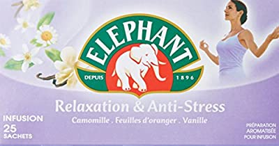 Elephant Infusion Relaxation Et Anti Stress 25 Sachets 39g - Lot de 4
